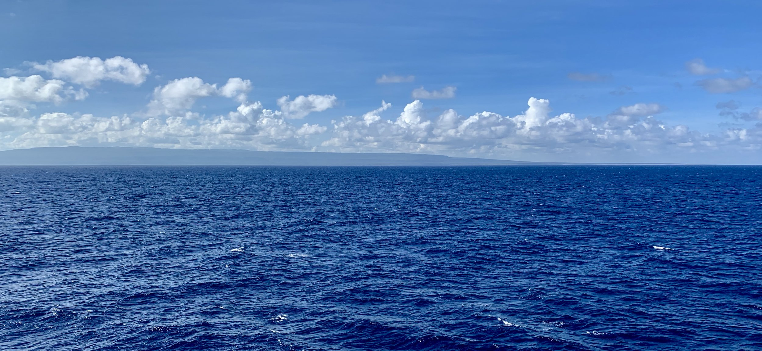 The view at sea.