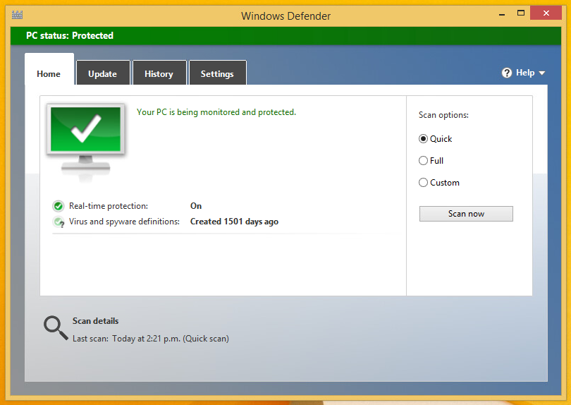 In part five, we try to utilise the built in firewall to detect viruses and malware, first, a clean scan.