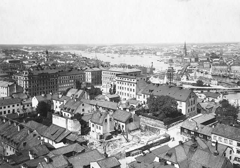Utsikt över Mosebacke Torg anno 1884