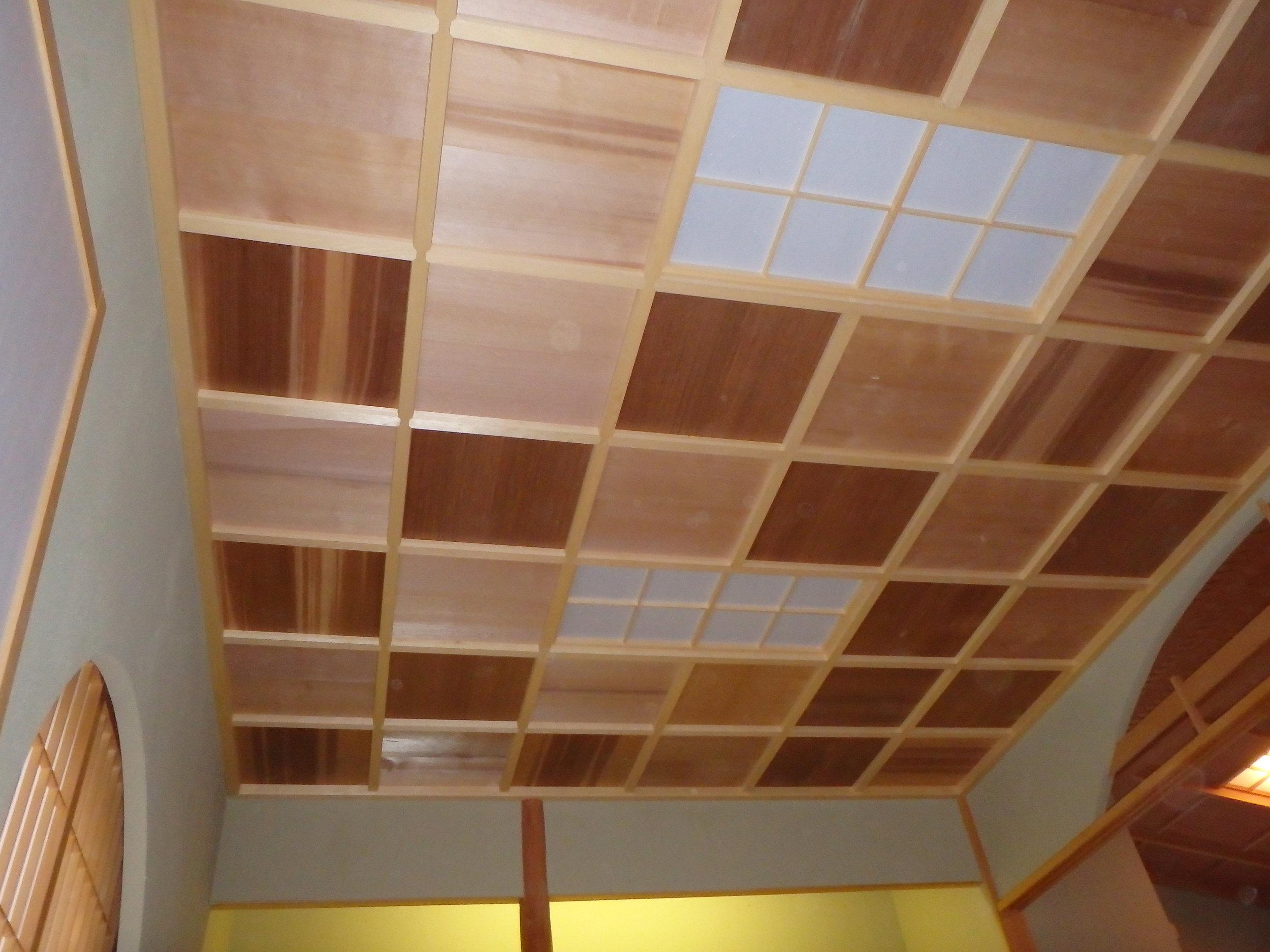 Yellow Cedar framing with Western Red Cedar panels.