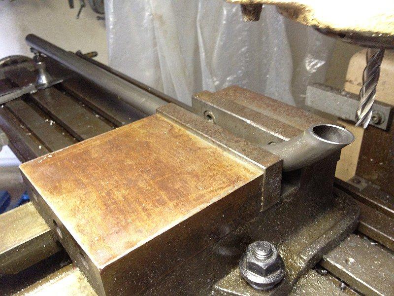 2012-07-23 01 milling off excess streamliner fork crown end stanchion.jpg