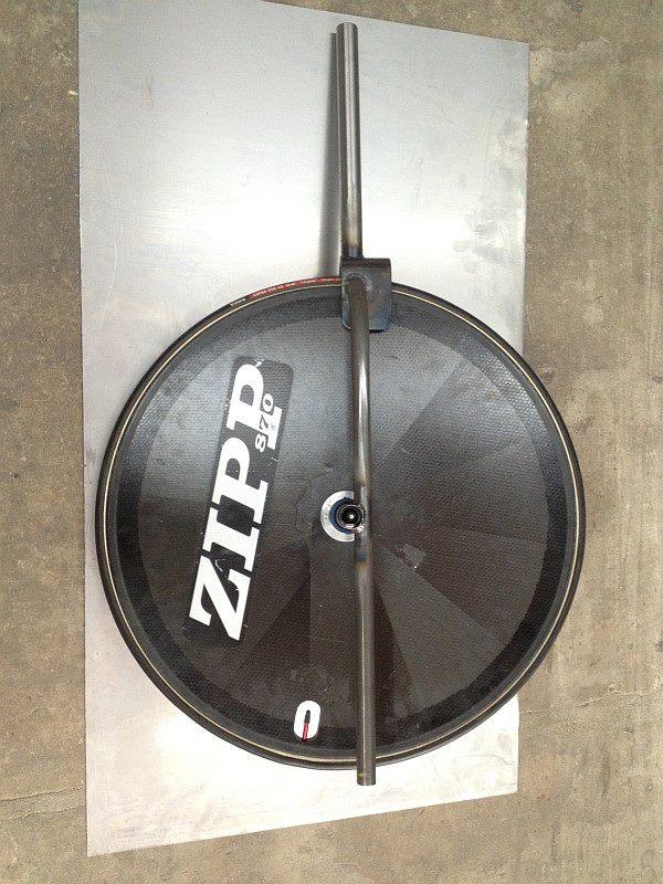 2012-07-24 09 streamliner fork with wheel, brake side.jpg