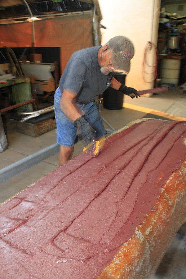 2012-08-06 06 body tooling polyester resin raspberry cake frosting.jpg