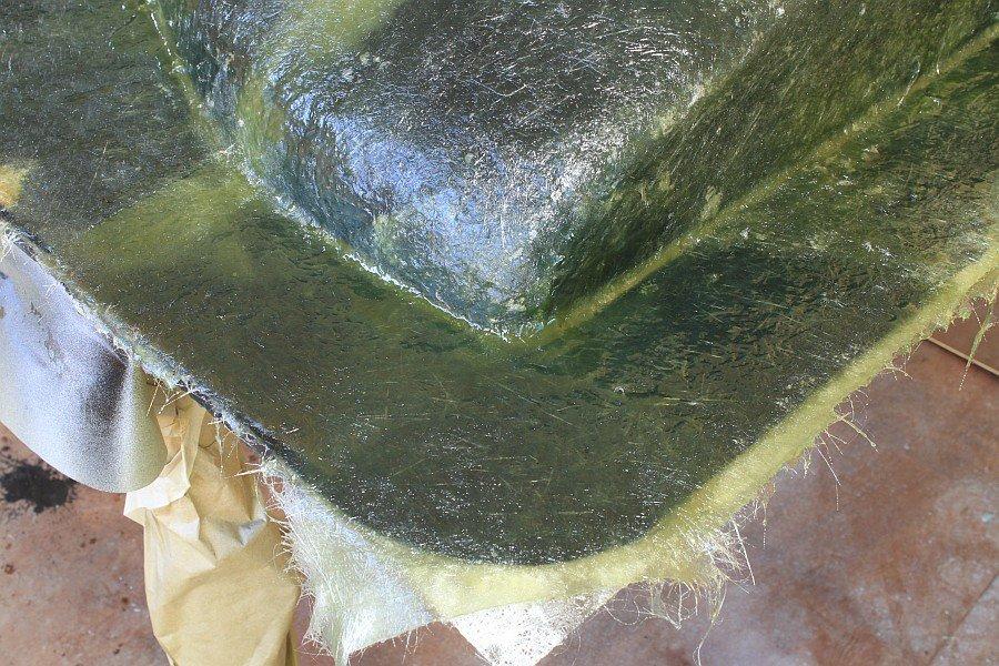 2012-08-27 19 body tooling 2nd layup 3 ounce fiberglass mat.jpg