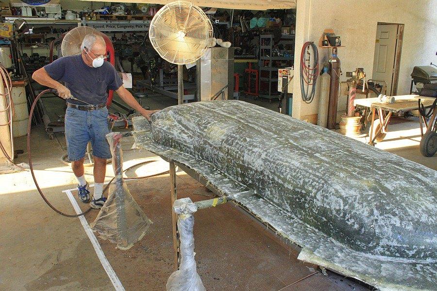 2012-08-27 21 body tooling 2nd layup 3 ounce fiberglass mat.jpg