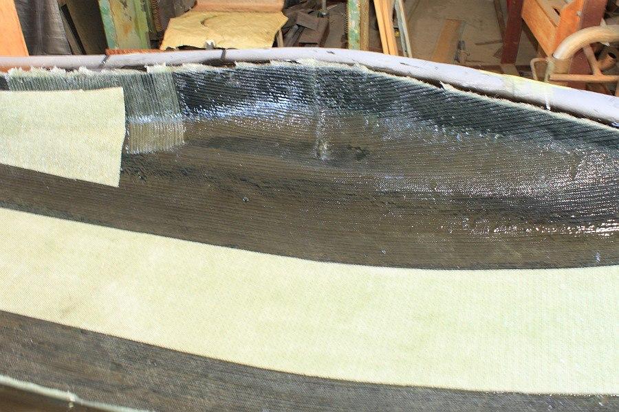 2012-08-31 14 streamliner body biaxial fiberglass 2mm core mat.jpg