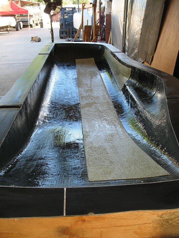 2012-08-31 18 streamliner body biaxial fiberglass 2mm core mat.jpg