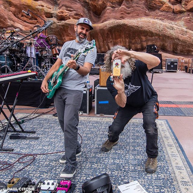 Killer shot of @alschnier at Red Rocks with his newest pedalboard addition ⚡️ Photo by @paulcitone • • • • #alschnier #moe #moeperiod #redrocks #morrison #colorado #paulcitone #arceffects #klone #klonev2 #boost #overdrive #analogman #pedaltalk #pedalnerds #gearporn #gearphoria #geartopia #gearpost #gearpage #knowyourtone #guitar #guitarplayer #guitarfx #pedal #effector #pedaleira #notpedalbored