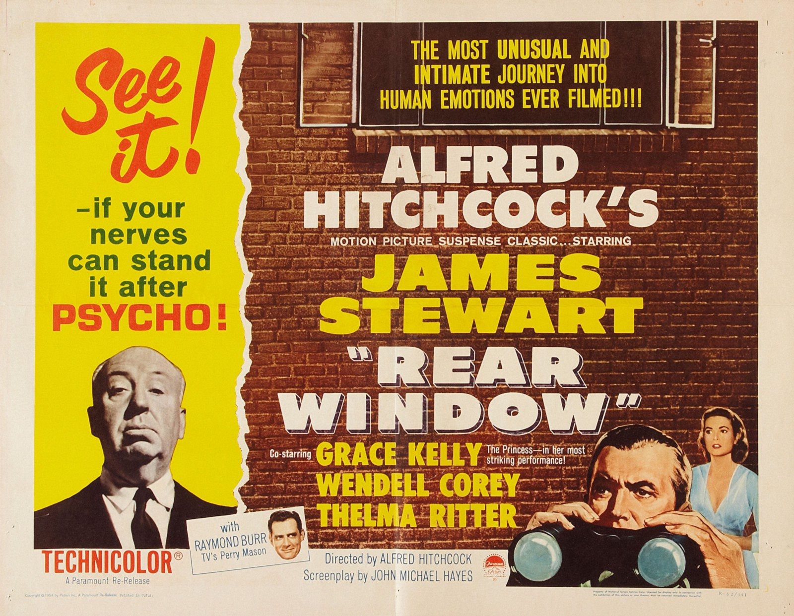 Rear Window ( public library ) by Alfred Hitchcock.