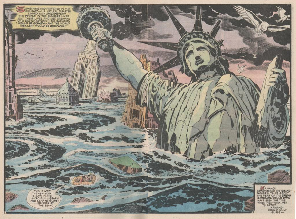 A double page spread by artist Jack Kirby (Thanks to  Dave Jordan  for finding the image)