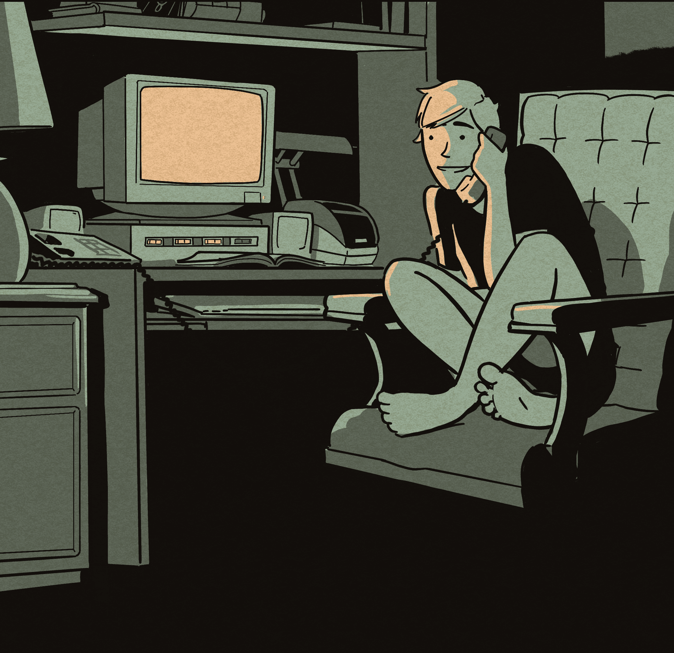 A print and web comic series about early 90's kids, making life threatening decisions over the early internet. -