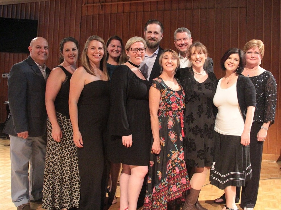 The Faculty (L to R): Tom Arduini, Jackie Zito, Wendy LeBorgne, Julie Dean, me, Matt Edwards, Marcelle Gauvin, Edward Reisert, Kathryn Green, Marci Rosenberg, and Edrie Means Weekly.