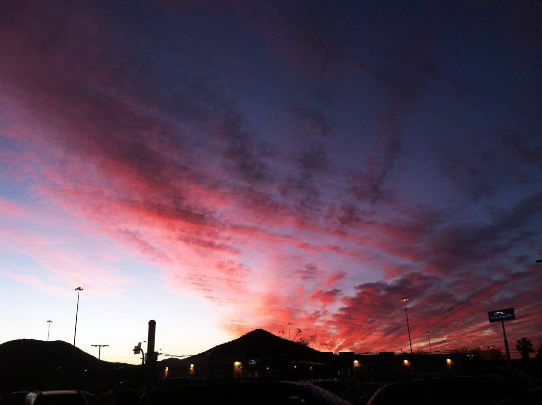 Tucson sunset.