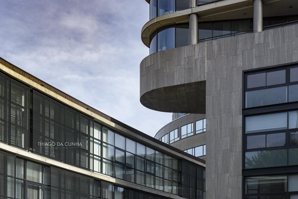 Detail shot of the Vesteda Toren Eindhoven, Netherlands.