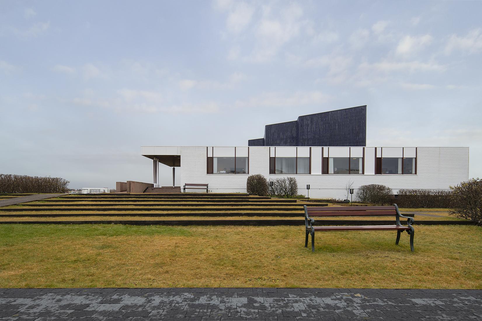 Iceland, House by Architect Alvar Aalto