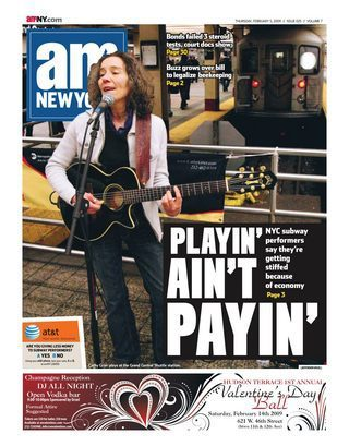 amNY Febrary 4, 2009 Cover page