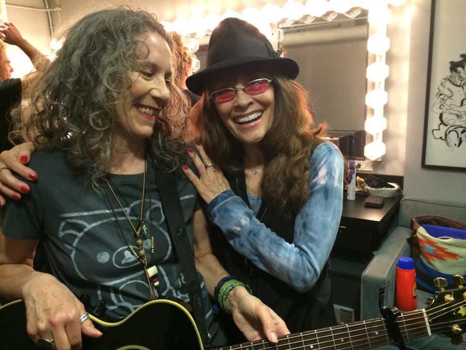Gay Marshall and Cathy Grier at a recent Joe's Pub concert -Justin Sayre's tribute to Indigo Girls