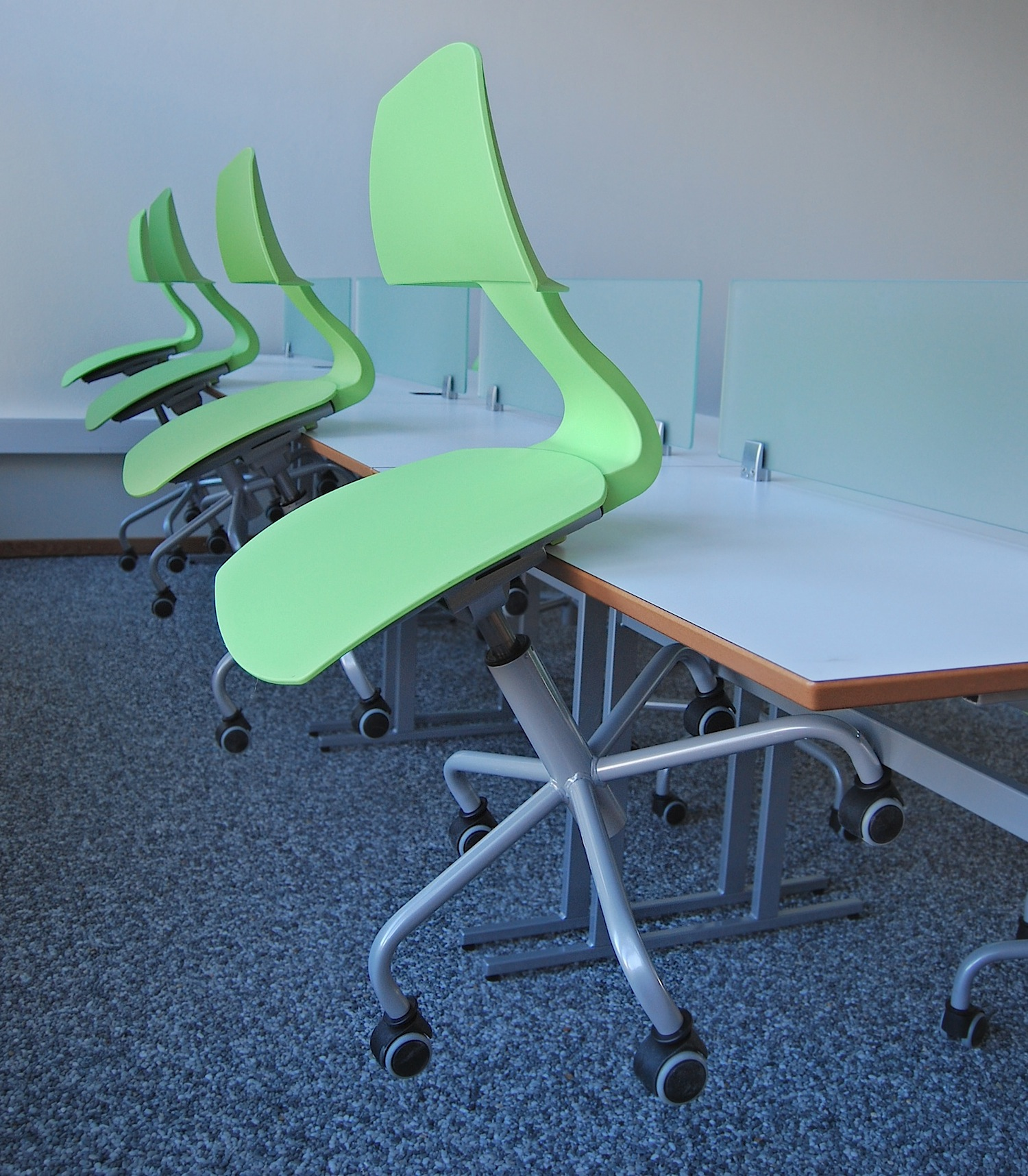 Lauf chairs make cleaning easy