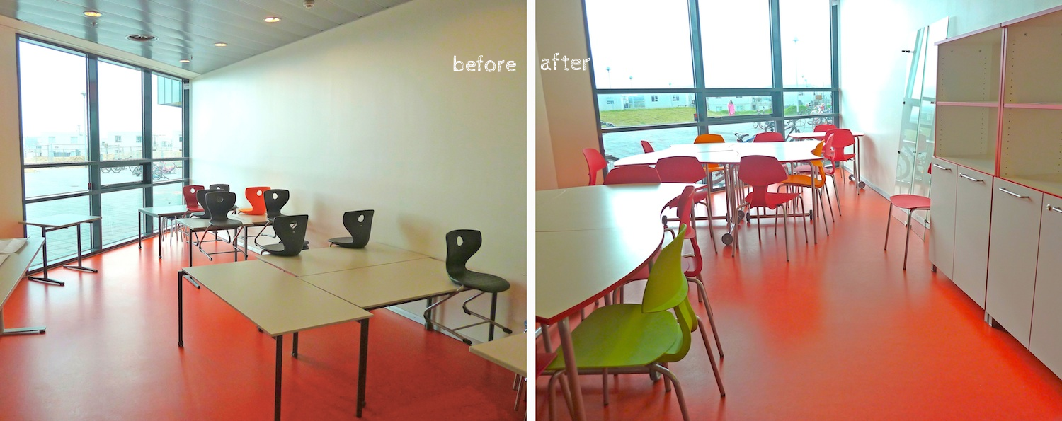 Room before and after