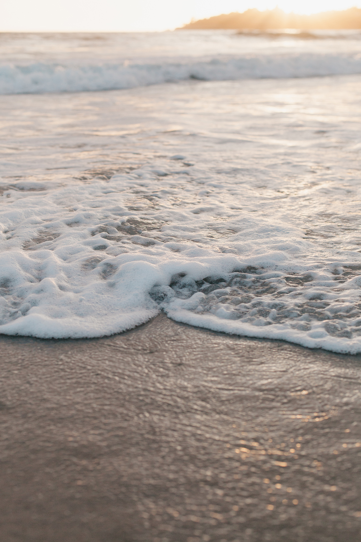 Ocean water during sunset.
