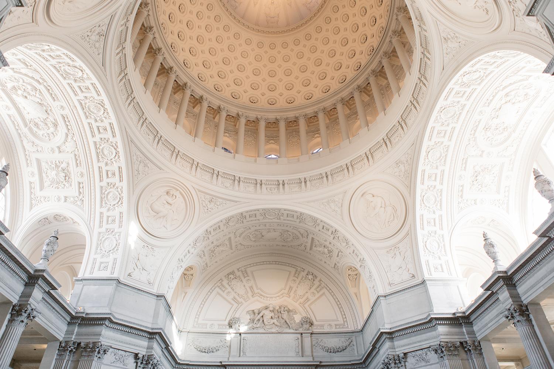 San Francisco City Hall ceiling top.