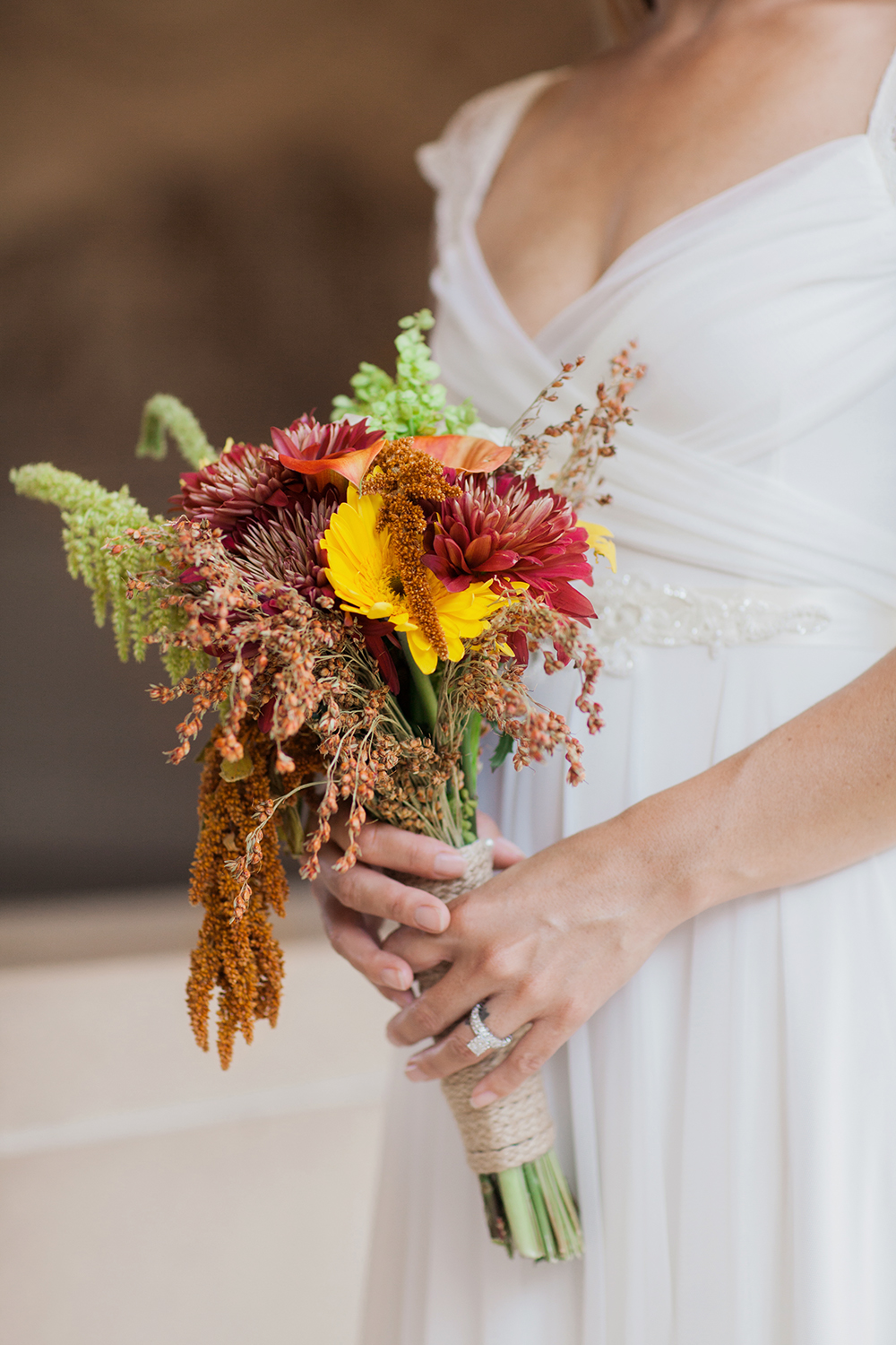 Bride DYI floral bouquet from a wedding in San Francisco City Hall.