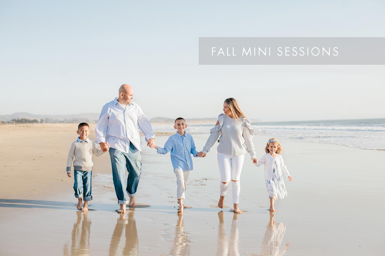 Half Moon Bay Beach family mini session sign up.