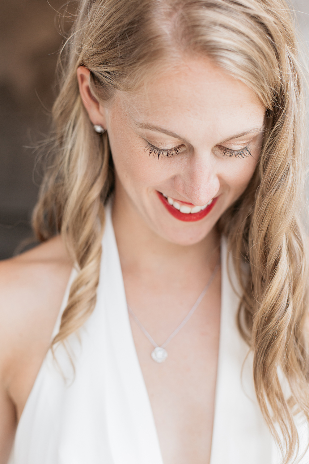 Classic portraits of bride during her San Francisco City Hall wedding.