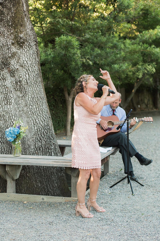 Chris and Claire's wedding photos at Marin Art and Garden Center in Marin California.