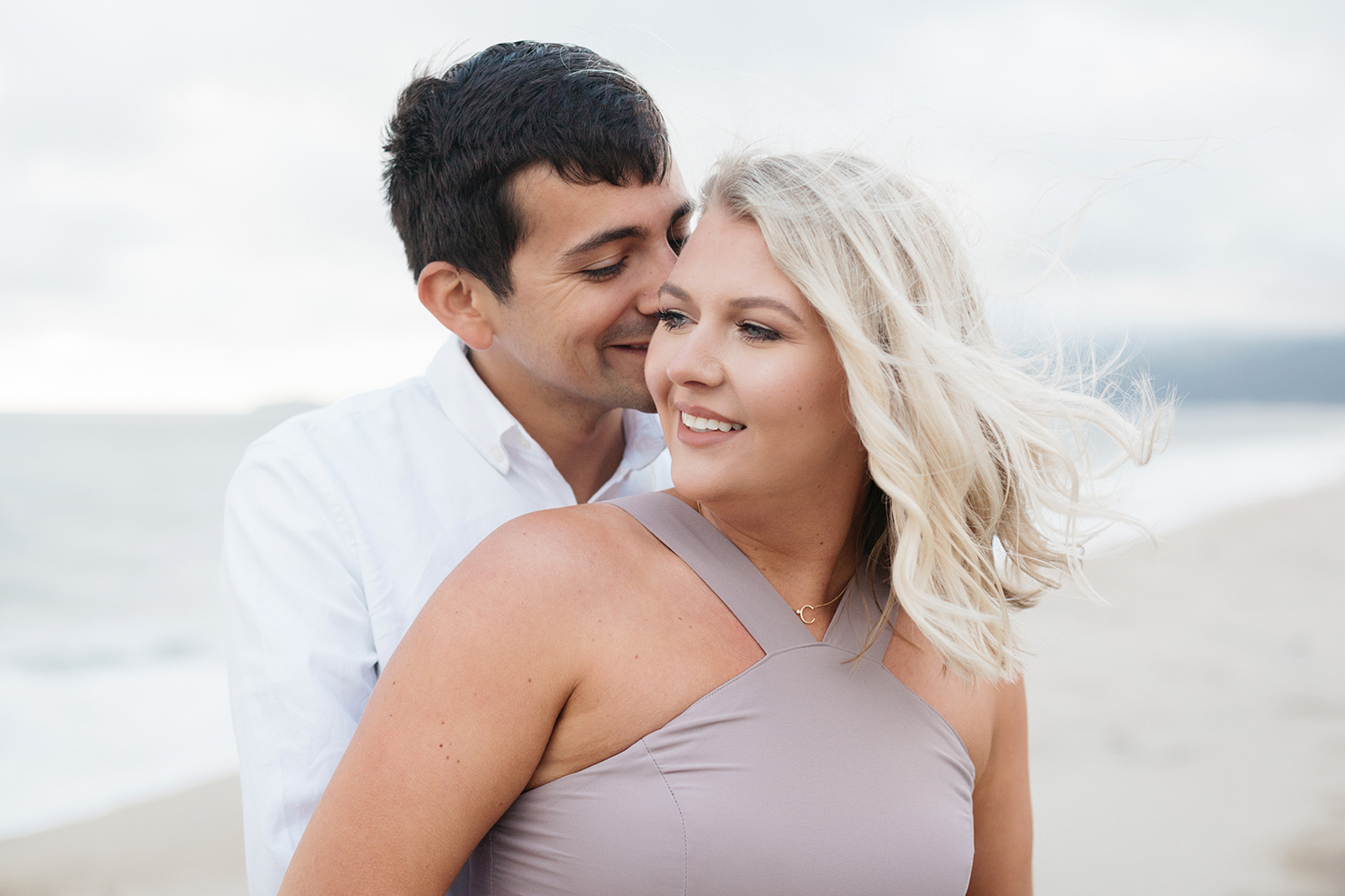 cori and andrew's engagement photos in half moon bay california.