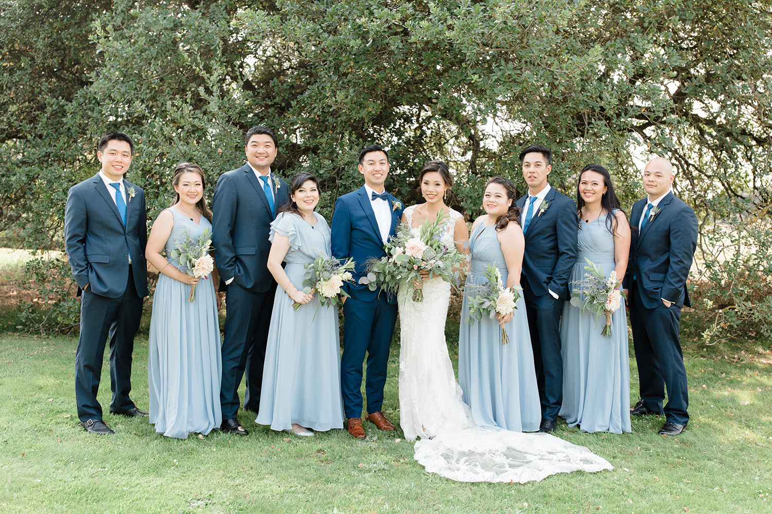 wedding photography of bridal party at eagle vines golf club in napa california