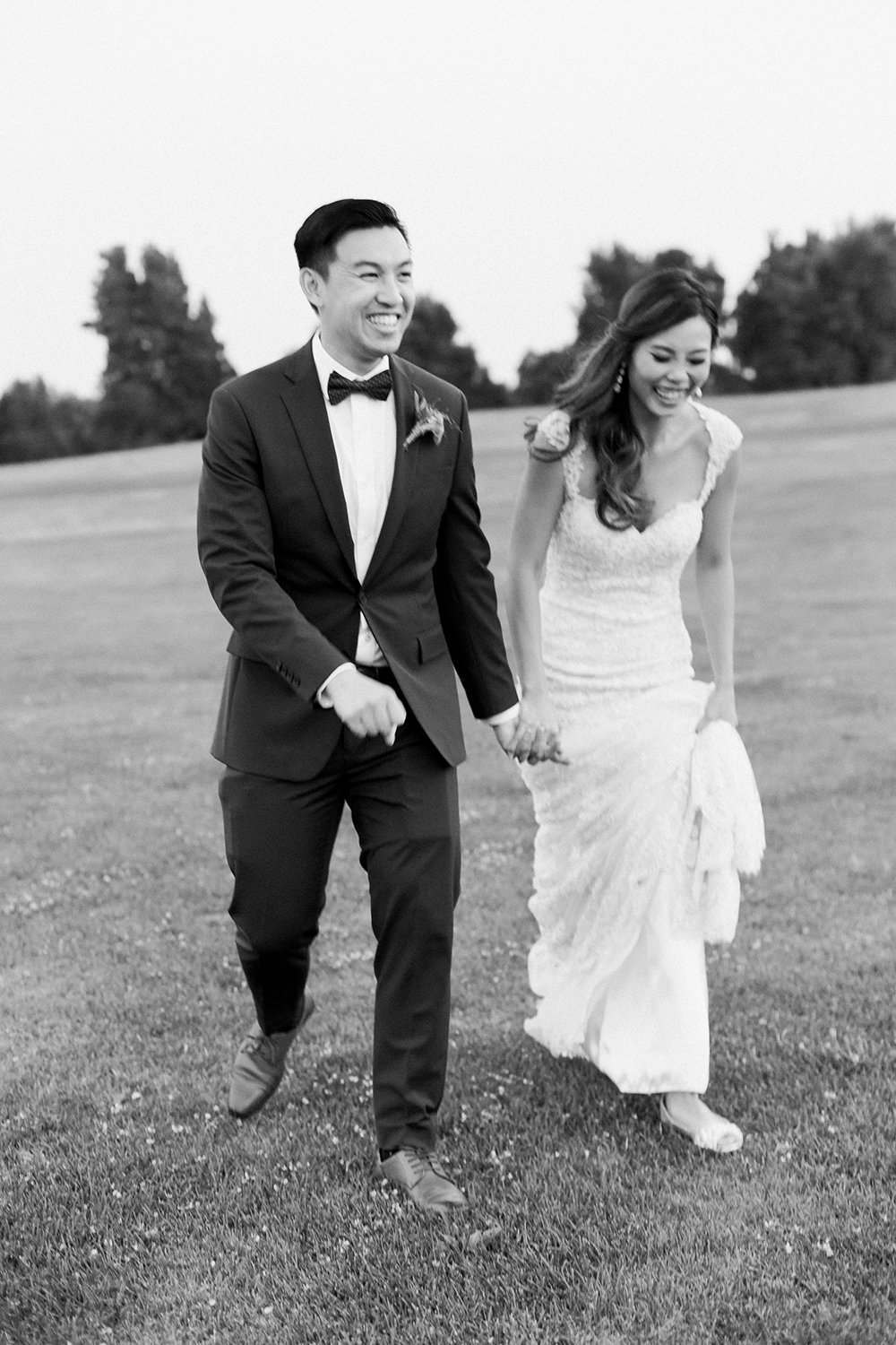 candid portrait of bride and groom in wedding at eagle vines golf club in napa california