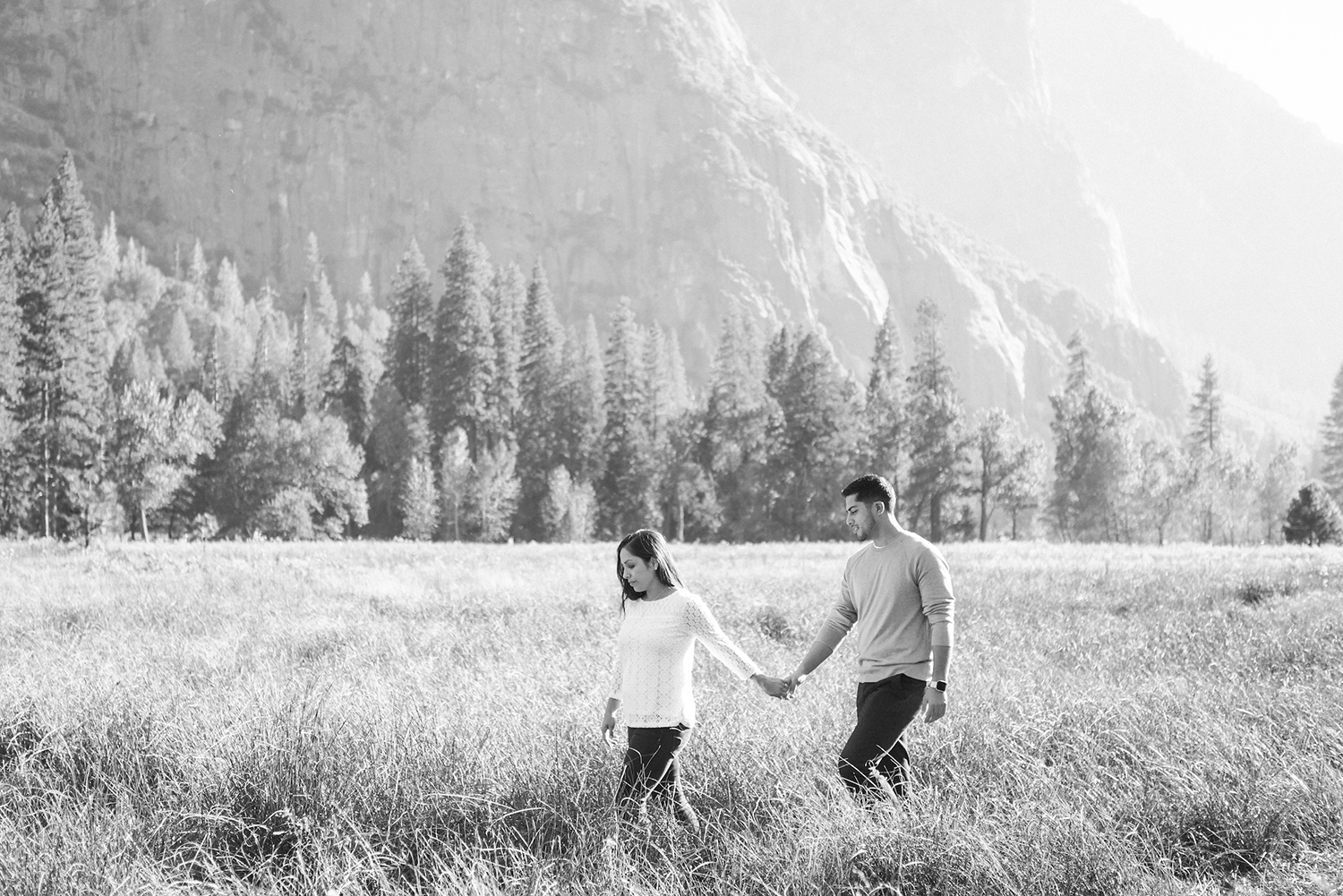 Our engagement session in Yosemite National Park, CA