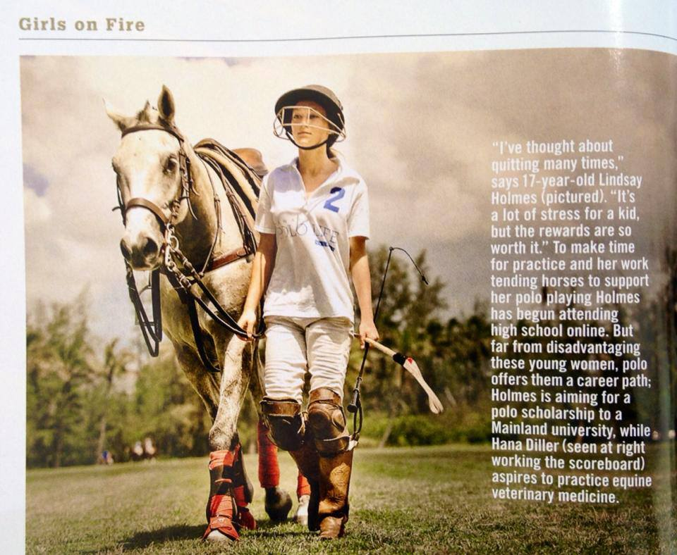 Lindsay Holmes after playing @ the Hawaii Polo Life Magazine launch on 5/19/13