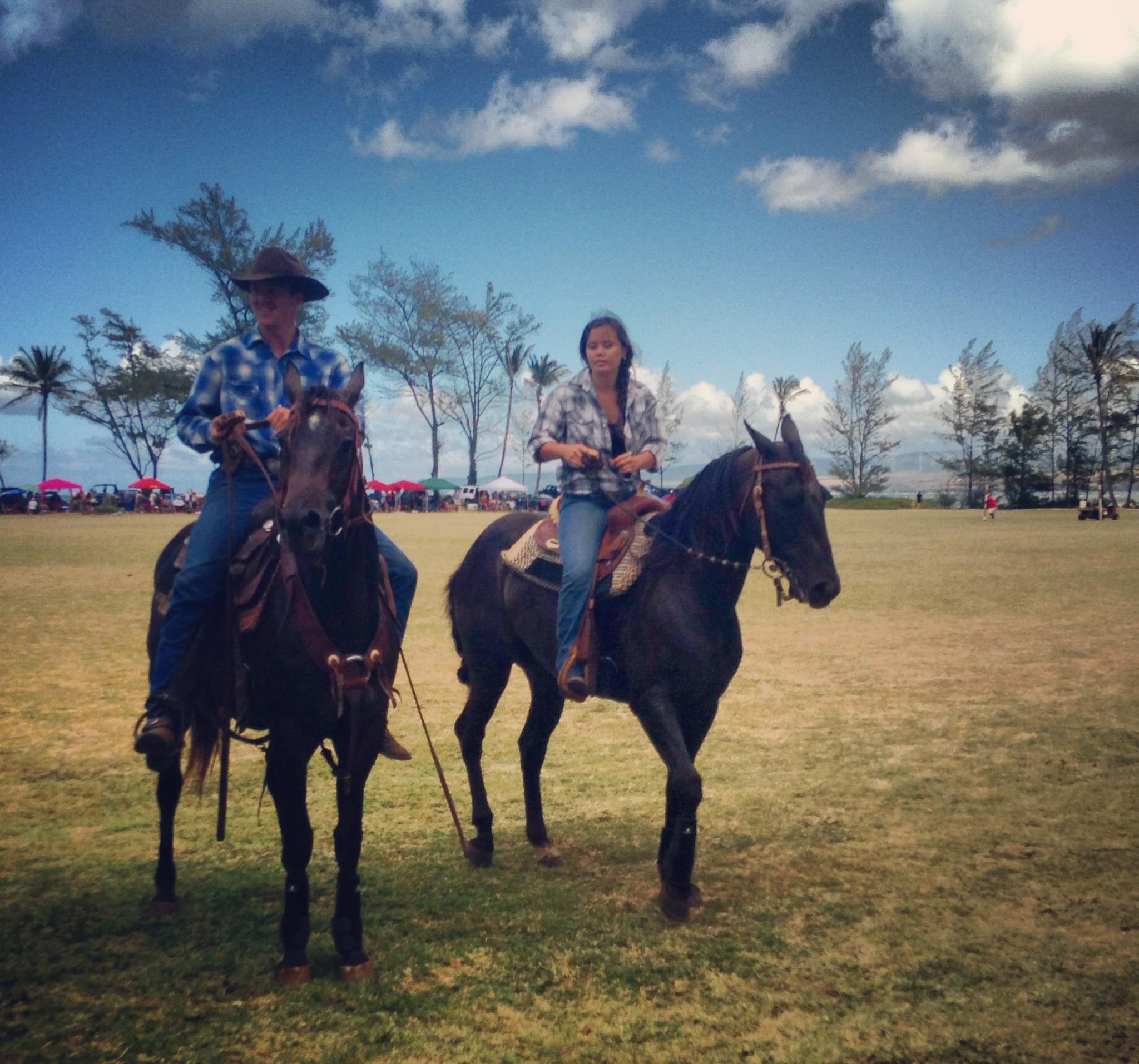Cowboy polo at Hawaii Polo Club, 2013 season.