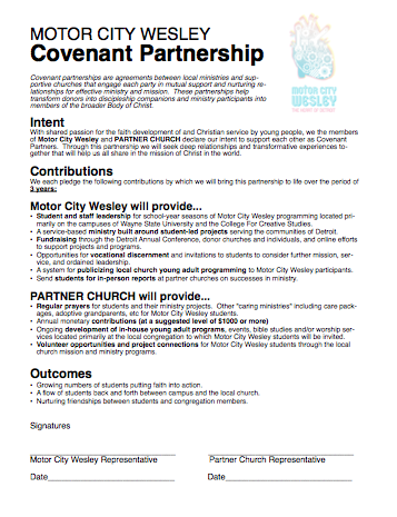 Check out a sample WSU Covenant Partnership Agreement.