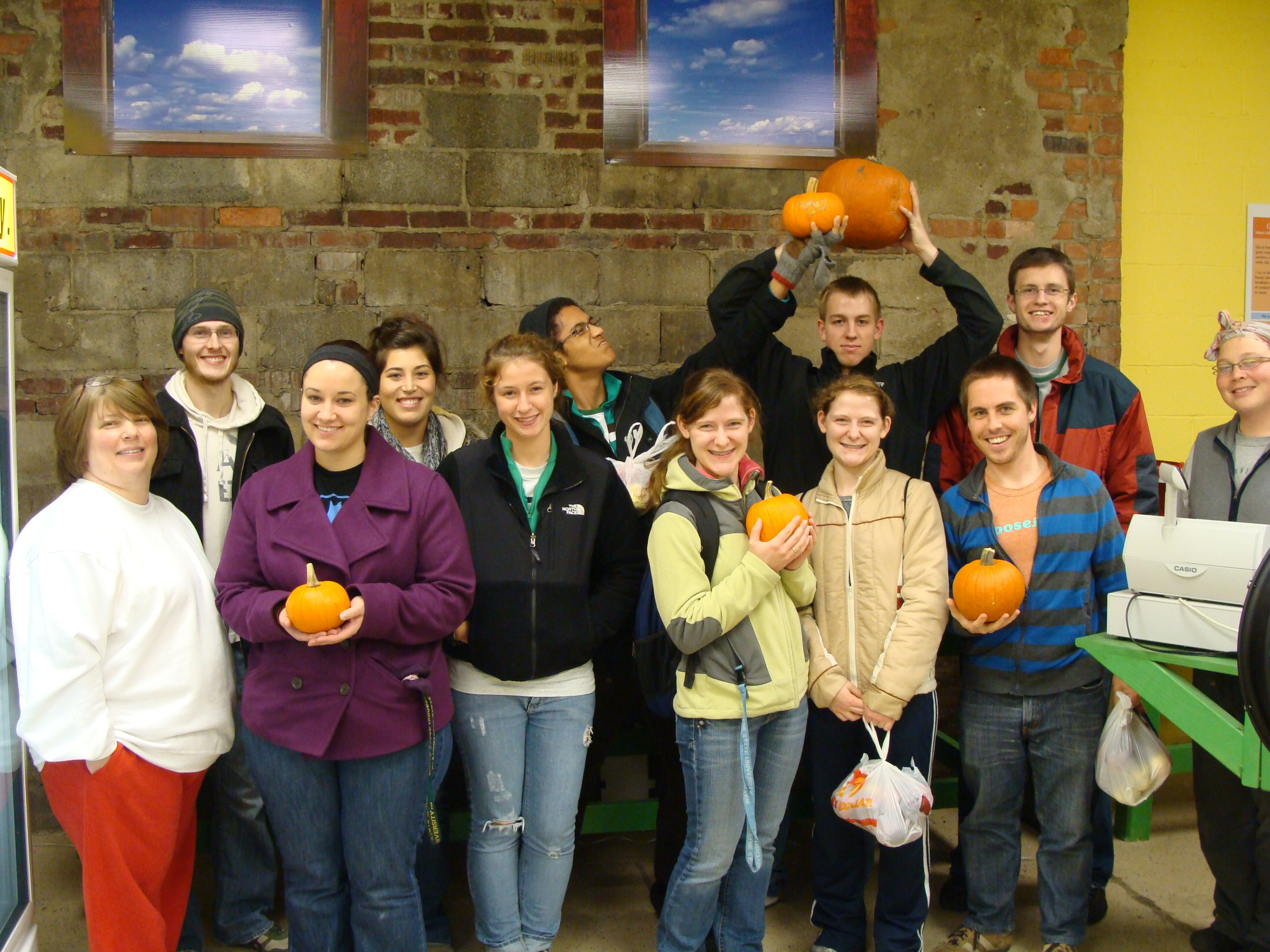 The first WSU Catalyst group visits Peaches N' Greens.