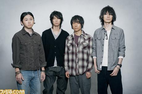 BUMP OF CHICKEN (Left to right)   Yoshifumi Naoi (Bass), Hiroaki Masukawa (Guitar), Hideo Masu (Drums), Motoo Fujiwara (Vocals & Guitar)