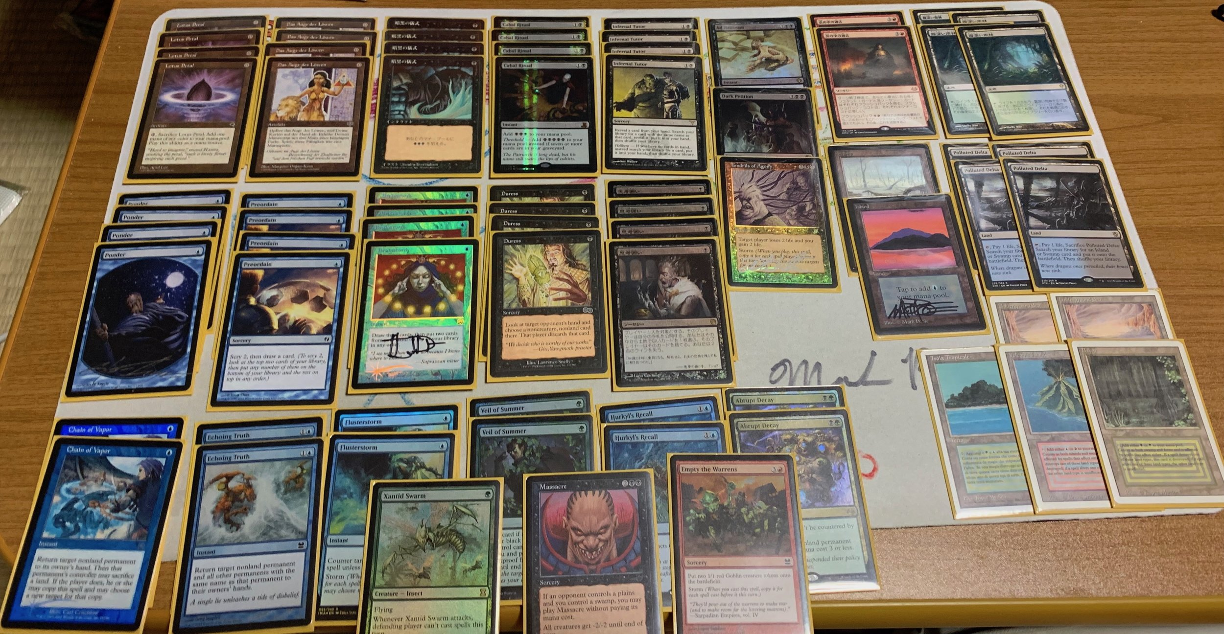 Foil Flusterstorms and Thoughtseizes were acquired after the tournament, but still loving this pile
