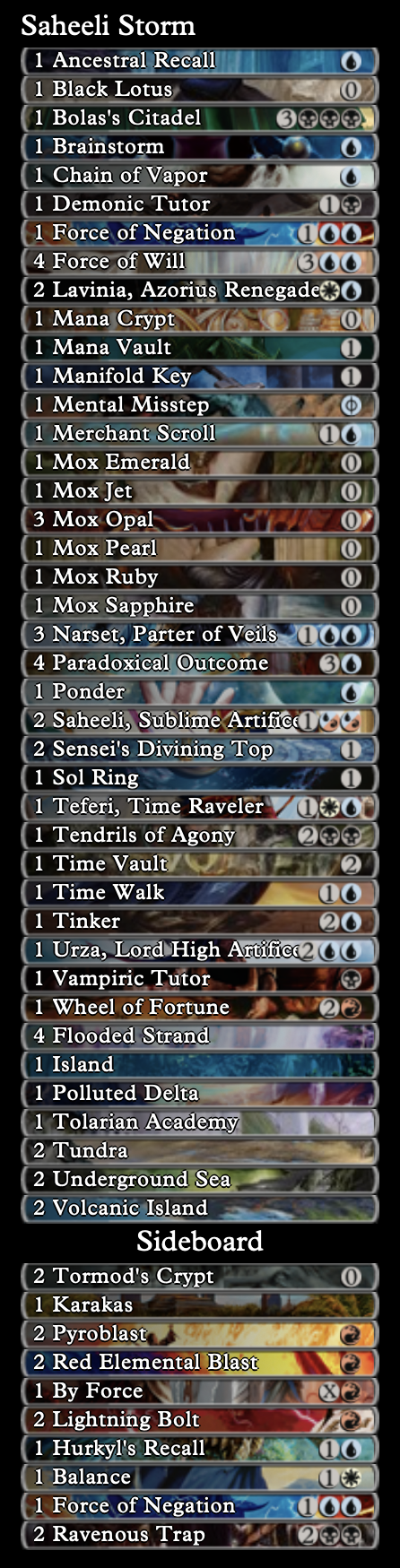 Vintage deck lists are so long.