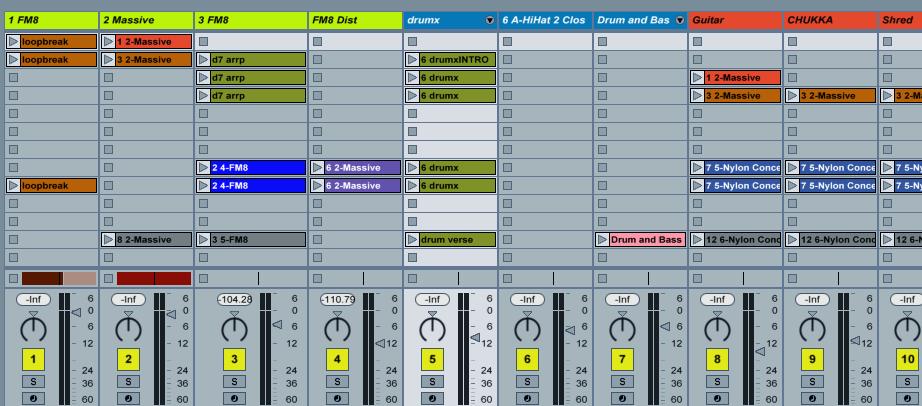 Clip of a Nova-111 track in Ableton Live