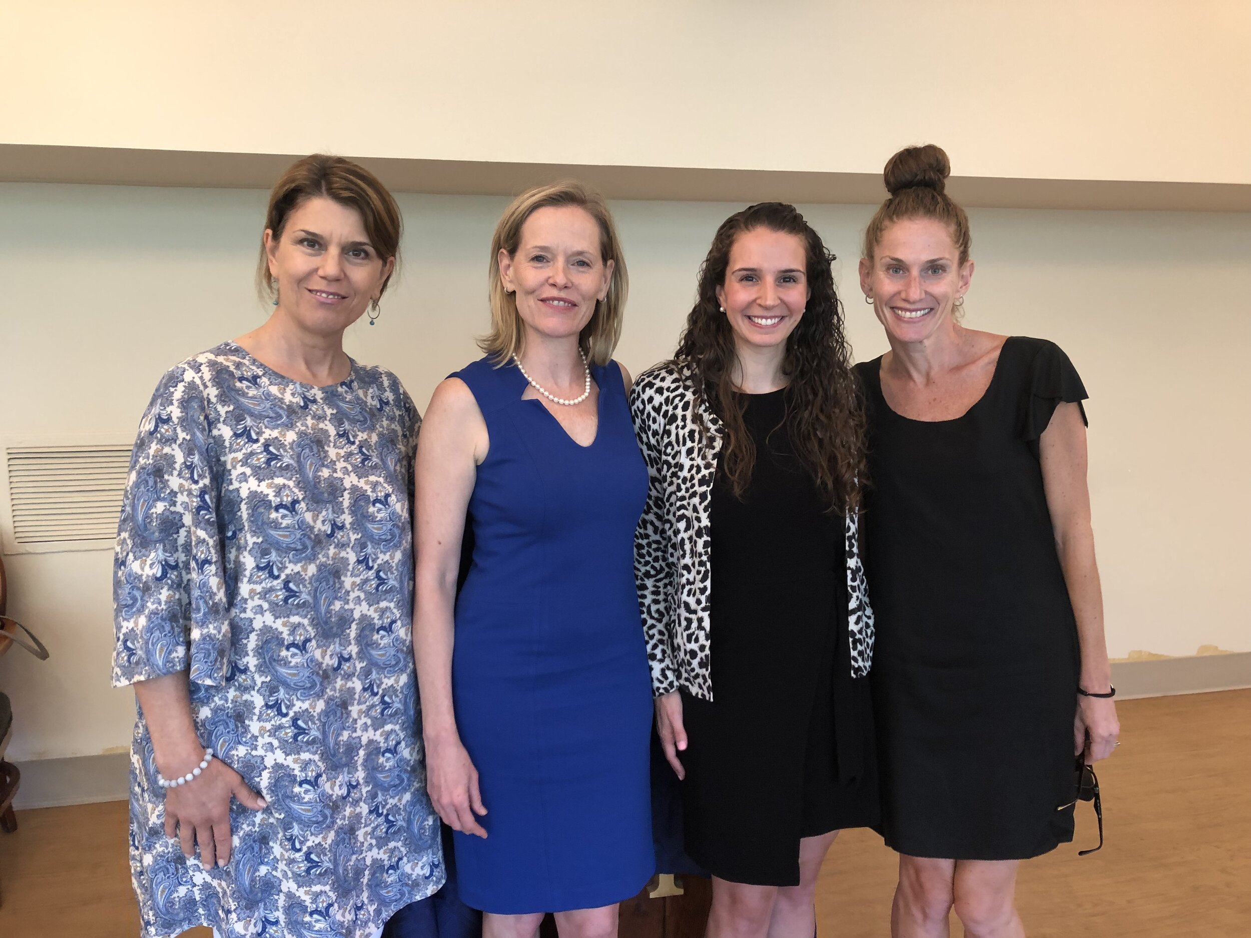 Photo from July 9, 2019 Session on Elder Law and Legal Matters. Pictured are Patti Pelican, Eileen Henry, Esq., Lauren Enea, Esq. and Carrie Sena