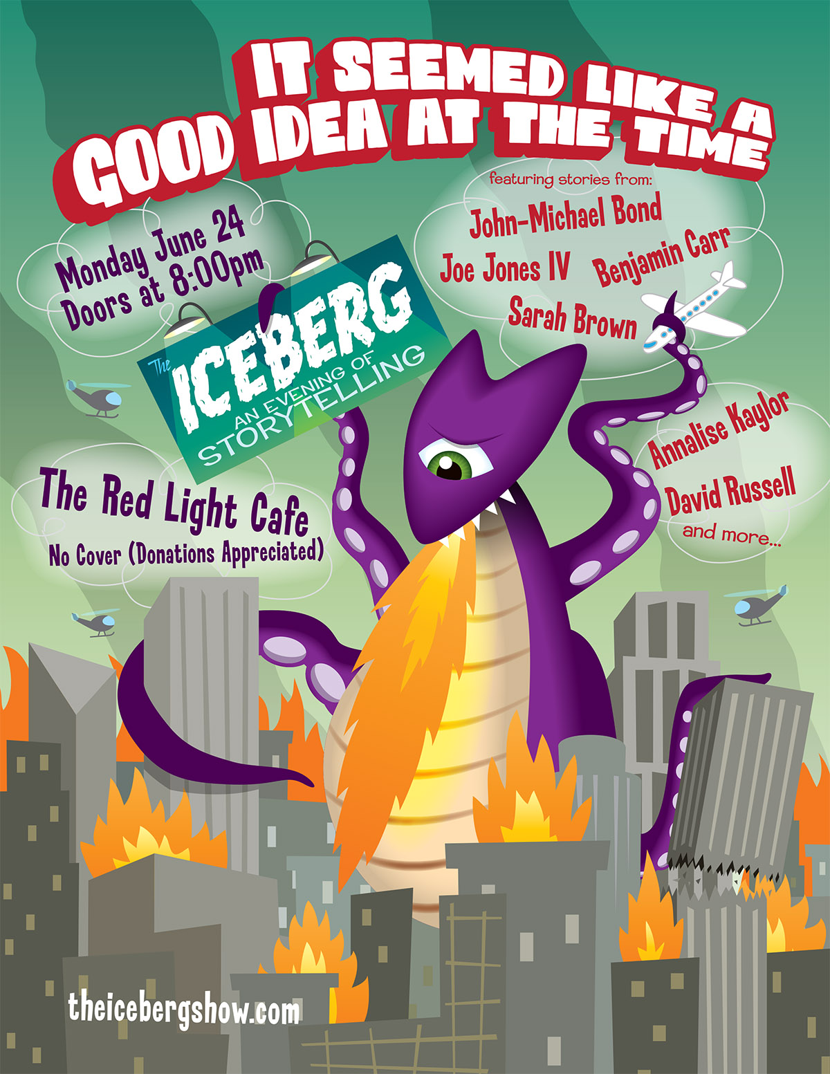 The Iceberg – June 24, 2013 – Red Light Café, Atlanta, GA
