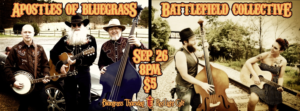 Apostles of Bluegrass and Battlefield Collective — September 26, 2013 — Red Light Café, Atlanta, GA