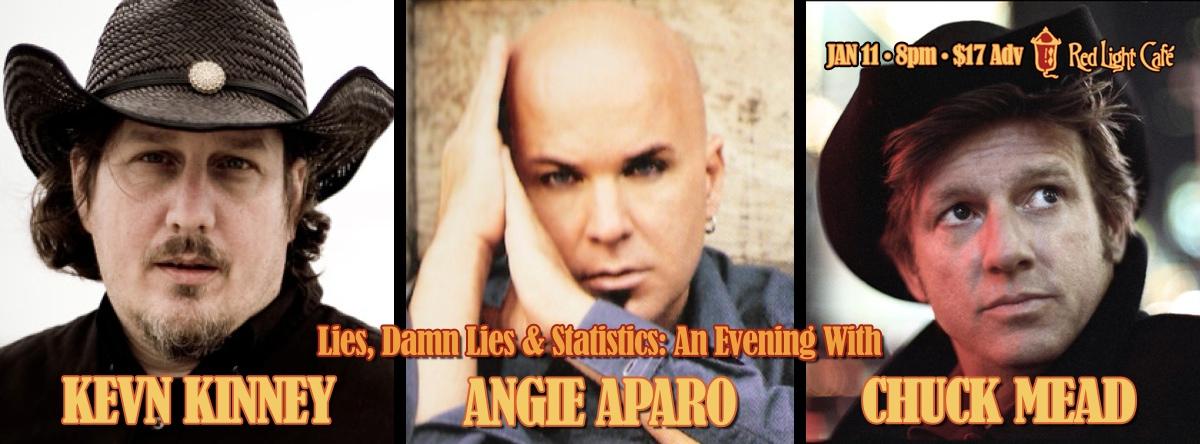 Kevn Kinney, Angie Aparo & Chuck Mead — January 11, 2014 — Red Light Café, Atlanta, GA