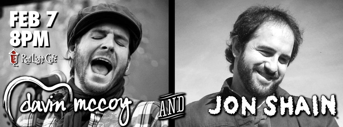 Davin McCoy & Jon Shain — February 7, 2014 — Red Light Café, Atlanta, GA