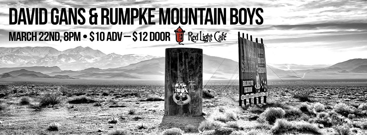 David Gans & Rumpke Mountain Boys — March 22, 2014 — Red Light Café, Atlanta, GA