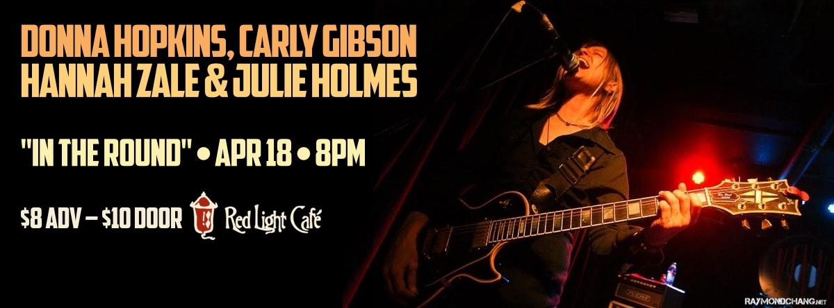 Donna Hopkins, Carly Gibson, Hannah Zale & Julie Holmes — April 18, 2014 — Red Light Café, Atlanta, GA