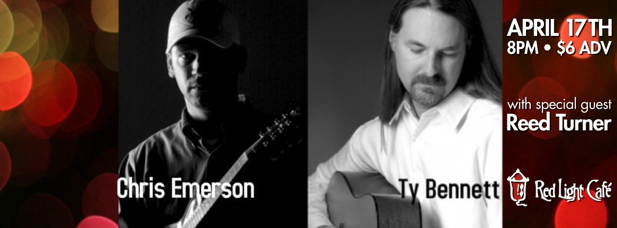 Chris Emerson & Ty Bennett w/ Reed Turner — April 17, 2014 — Red Light Café, Atlanta, GA