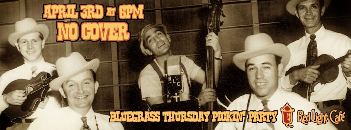 RLC Bluegrass Thursday Pickin' Party — April 3, 2014 — Red Light Café, Atlanta, GA